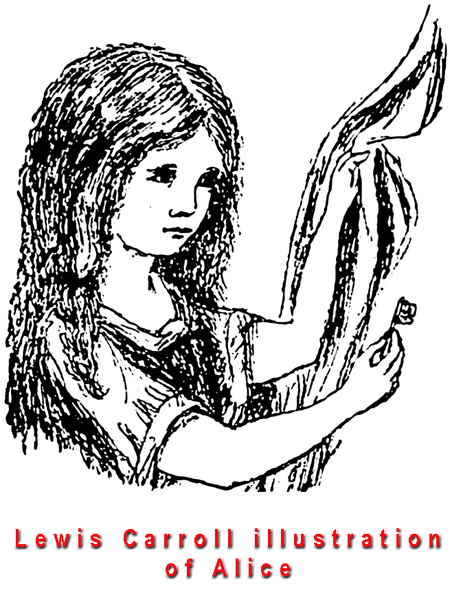 Alice as drawn by her author